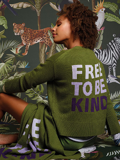 "Cardigan ""Free to be Kind"""